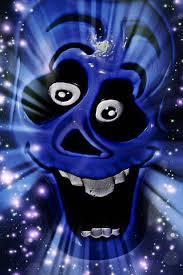 happy blue skull wallpaper
