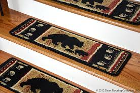 dean premium carpet stair treads black bear cabin 31 x 9 set of 13 plus a matching landing mat staircase step treads com