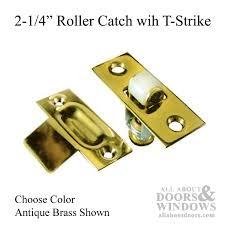 2 1 4 roller catch solid brass choose color door roller catch