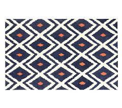 ikat rug rug feet navy orange diamond ikat area rug blue cream