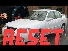 How to reset Service Engine soon Light on a 2004 Nissan Sentra ...