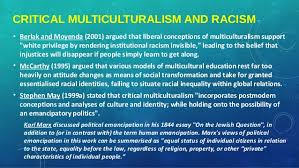 critical pedagogy critical race theory and antiracist education imp critical multiculturalism and racism 9