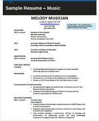 Sample Musician Resume Sample Music Resume 7 Examples In Word Pdf
