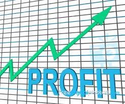 Chart That Shows Profit Chart Graph Shows Increase Cash Wealth Revenue Stock