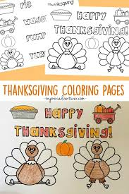 One coloring page, one easy turkey dot to. Thanksgiving Coloring Pages Free Printables My Mini Adventurer