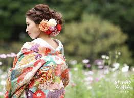 超重要 美しい和装は髪型で決まる 白無垢色打掛それぞれに