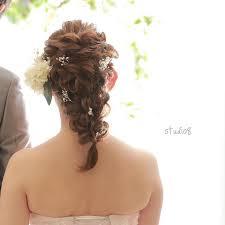 ミディアムヘアの花嫁さま必見編みおろしヘア特集