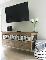 Free building plans to build your own modern DIY TV Console table. With  plenty of
