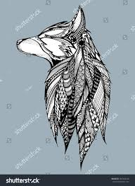 white wolf howling drawing. Perfect Wolf Howling Wolf Portrait Of A Stylized Dog Head For White Wolf Drawing