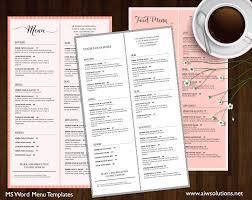 Microsoft Word Restaurant Menu Template Mesmerizing Design Templates Menu Templates Wedding Menu Food Menu Bar