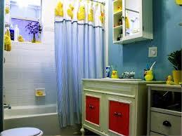 Bathroom: Beach Theme Kids Bathroom With Fish Paintings On The ...