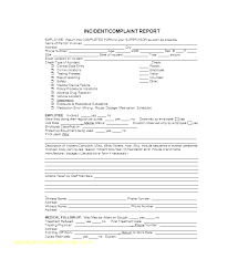 Injury Incident Report Form Template Employee Incident Report Format