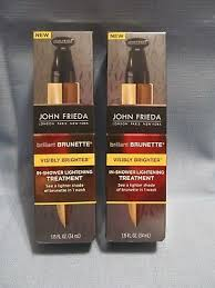2 john frieda in shower lightening treatment 1 shade lighter in 1 wash brunette