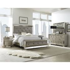 Mirrored Bedroom Furniture Mirrored Bedroom Furniture Celine 5 Piece Mirrored And Upholstered