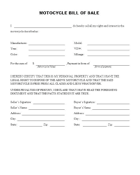 Dirt Bike Bill Of Sale Form Motorcycle Template Ontario – Scipion