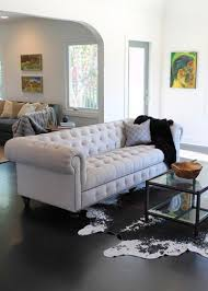 Image Mid Century Eclectic Living Room By Madison Modern Home Houzz Trend Alert The Modern Chesterfield Sofa