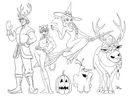 Princess Halloween Coloring Pages With Disney Inspirational Frozen