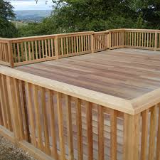 Wood Deck Railing Ideas And Floor Doherty House Durability Of