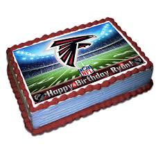 Designer Birthday Cakes In Atlanta Atlanta Falcons Nfl Personalized Cake Topper Icing Sugar