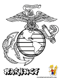 Coloring Page : Usmc Coloring Pages A Steady Marine Officer ...