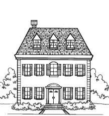 Small Picture Big Family Houses Coloring Page Color Luna