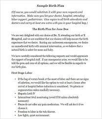 Different Birth Plan Options 50 Free Birth Plan Templates Word Pdf Formats