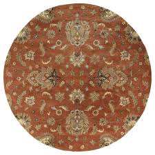 kaleen mystic europa copper 9 ft x 9 ft round area rug