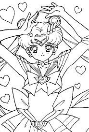 Small Picture Sailor moon coloring pages usagi pose ColoringStar