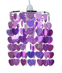 Heart Light Shade Pink Sparkly Heart Easy Fit Light Shade