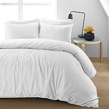 soft white duvet cover.  Cover Luxury Soft Pure Natural Flax Fibre Linen Blend Quilt Duvet Cover Bedding  Set White With White E