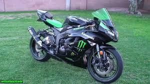 monster energy kawasaki ninja plastic bike