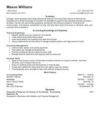 Resume Accountant Sample Accounting Cover Letter For Internship