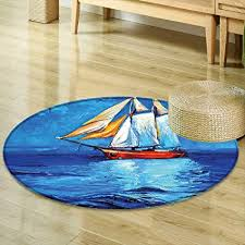 Painting Dining Room Simple Amazon Mikihome Round Area Rug Carpet Nautical Oil Painting