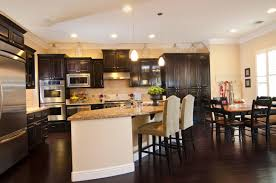 Dark wood floors Living Room 34 Kitchens With Rich Dark Wood Floors Trendir 34 Kitchens With Dark Wood Floors pictures