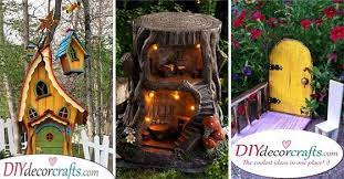 fairy garden houses diy tree stump