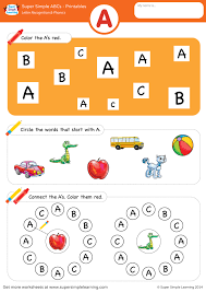Printable phonics worksheets for kids. Letter Recognition Phonics Worksheet A Uppercase Super Simple