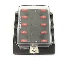 12 volt fuse block per 5607 atm mini fuse block panel 10 gang 12 volt blade no ground clear