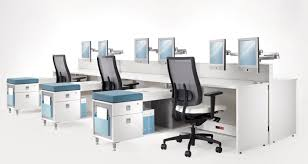 modern office accessories. Office : Workstation Modern With Long White Table And Black Chairs Plus Small Cabinets Sliding Drawer Great For Accessories T