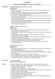 Intelligence Analyst Resume Examples Intelligence Analyst Resume Samples Velvet Jobs 38