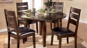 all wood dining room table. Round Cherry Wood Dining Table And Chairs With Solid Leaf Plus Room For 8 Together 48 Wooden All