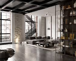 contemporary loft furniture. Furniture For Loft. Furniture:attractive Industrial Apartment Decor With Gray Loft Ideas And Contemporary