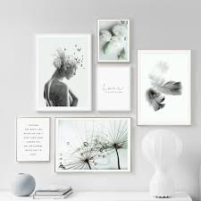 <b>Abstract Feather</b> Rose Flower Quotes <b>Nordic Posters</b> And Prints ...