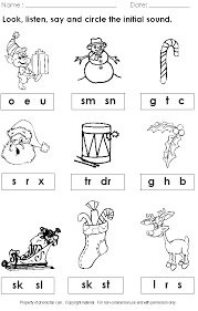 holiday worksheets | Christmas Phonics Worksheet | phonics ...