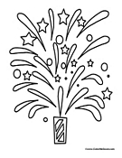 Small Picture Fireworks Coloring Pages