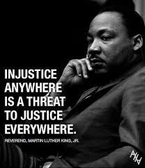answer the question being asked about injustice anywhere is a what do you think of the line injustice anywhere is a
