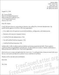 network administrator cover letter sample cover letter network administrator