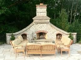 outdoor stone fireplace. Outdoor Stone Fireplace Design