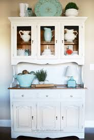 beautiful kitchen hutch ideas best ideas about hutch decorating on painted hutch