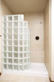 Houston Bathroom Remodel New Custom Doorless Shower Houston Glass Block