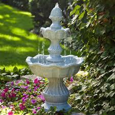 wel e garden pineapple tiered outdoor fountain from garden fountain decor for your backyard source hayneedle com
